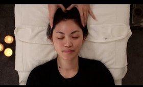 ASMR Facial - fall asleep, deep relaxation (whisper, massage & facial cupping for subscriber)