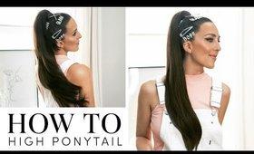 How To: High Ponytail Using Kitsch Hair Accessories | Milk + Blush