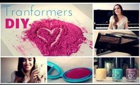 EYE SHADOW UPCYCLING: Make a blush, nail polish and and a brow set