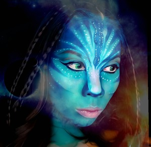 First try of avatar makeup last Halloween
