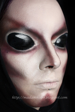 Creepy alien Halloween look.