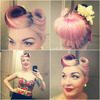 Victory roll pin up rockabilly look