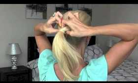 Looped Under Ponytail | Back To School Look | Fireworks Updo | Funky Ponytail | Quick Updo