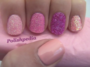 I love the color pink and these are just the nail I needed today.  Watch My Video Tutorial @ http://www.polishpedia.com/pink-glitter-nails.html