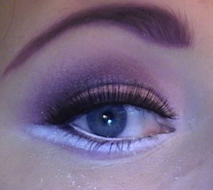 cut crease with sugarpill poison plum eyeshadow and Tako used as eyeliner