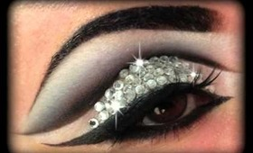 Diamonds - Glitzy Make Up Tutorial for New Year's Eve 2013 (Trucco Capodanno)