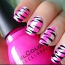 Cute pink and zebra