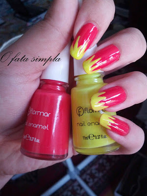 More manicures on my blog -> http://o-fata-simpla.blogspot.ro/2013/06/the-polishes-challenge-5-warm.html