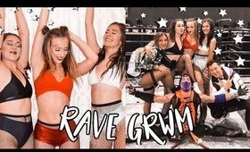 RAVE GRWM ❤️ Makeup, hair & outfit 2020!