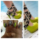 Animal print and green