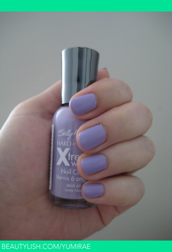 Sally Hanson Hard as Nails Xtreme Wear in Lacey Lilac | Yumi R.\'s ...