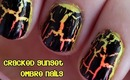 Cracked Sunset Nail Art Tutorial: Sponge Ombre