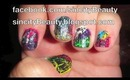Shattered Rainbow Nails Using OPI Black Shattered