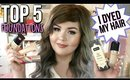TOP 5 Favorite Foundations + I dyed my hair!