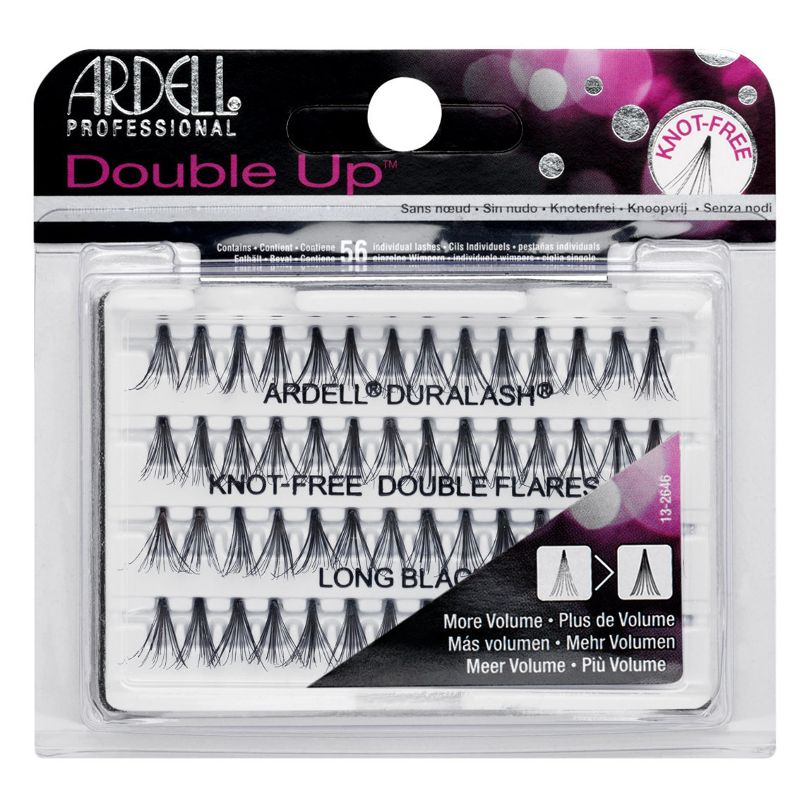 Ardell Double Up Individuals Knot-Free Lashes Long Black