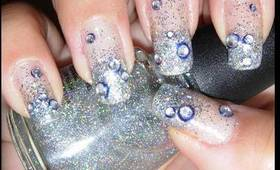Easy Glitter Nails for New Years Eve!!!!!