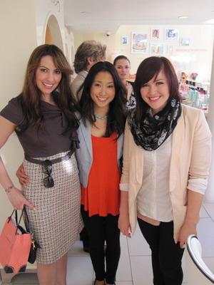 With Christina & Jasmine @ Molly Ringwald / Benefit event. xoxo