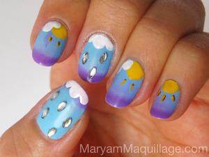 Weatherly Changes NailArt. Details on my blog: http://www.maryammaquillage.com/2012/03/weatherly-changes-nailart.html