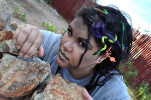Medusa Halloween makeup