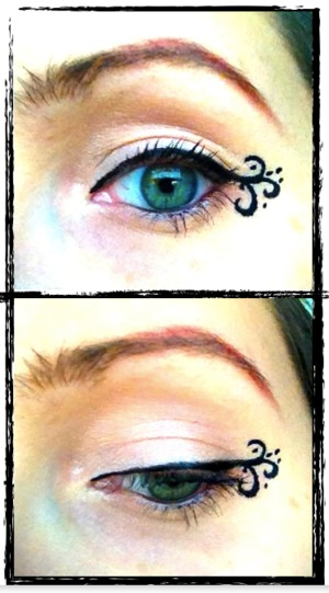 Pretty obsessed with fairy-winged eyeliner at the moment!