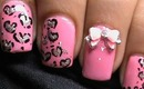 Nail Art Tutorial Heart Leopard + Dresslink Review For Bow - Beginners nails designs nail polish
