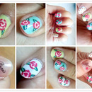 Painted floral nails