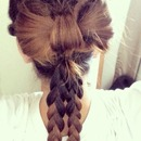 bow with braids