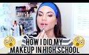 HOW I DID MY MAKEUP IN HIGH SCHOOL CHALLENGE   Kayleigh Noelle