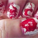 Blood Splatter Nail Art