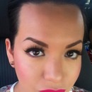 Bright lip Winged liner Lashes