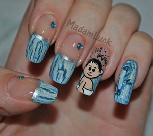 Baby Boy themed Nail Art- we found out yesterday we are expecting a boy so this is my way to celebrate