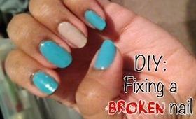 DIY: Fix A Cracked Nail
