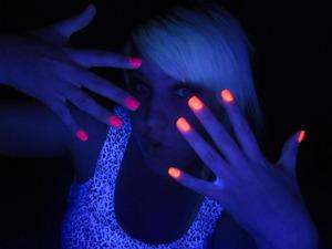 I love neon polish...& black lights!