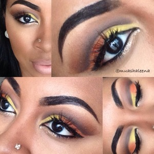 I love a dramatic cut crease! Check out my tutorial for this look on my youtube channel at www.youtube.com/beautysosweet08 xo   Follow me on Instagram @muashaleena