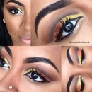 Yellow and Orange Cut Crease!