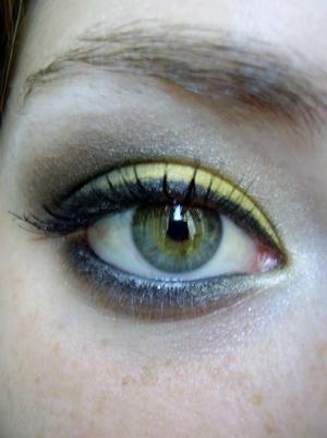 hufflepuff inspired eyeshadow tutorial harry potter house series
