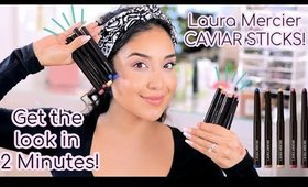 Quick and Easy 2 Minute Eye Look with the NEW Caviar Sticks! + How to use them!
