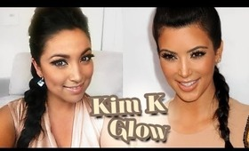 Kim Kardashian Inspired : Bronze Glow  Makeup tutorial
