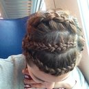 Braided my own short hair!