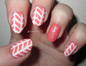 Peach Sparkle Tribal