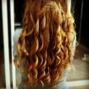 A beautiful curly long hair