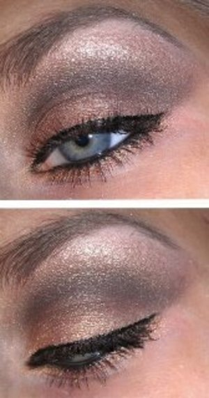 """Used a lot of different eyeshadows for this one. I think this goes great with any eye color! The product I can't find to list is the Physician's Formula Custom Shimmer Strips in """"Nude."""" (I think it was a limited edition)"""