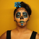 Sugar Skull Simple Blue 3
