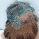 Blue and purple bun <3