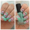 Floral blossom nail art
