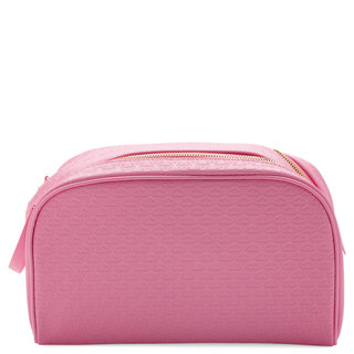 Double Zip Makeup Bag Pink