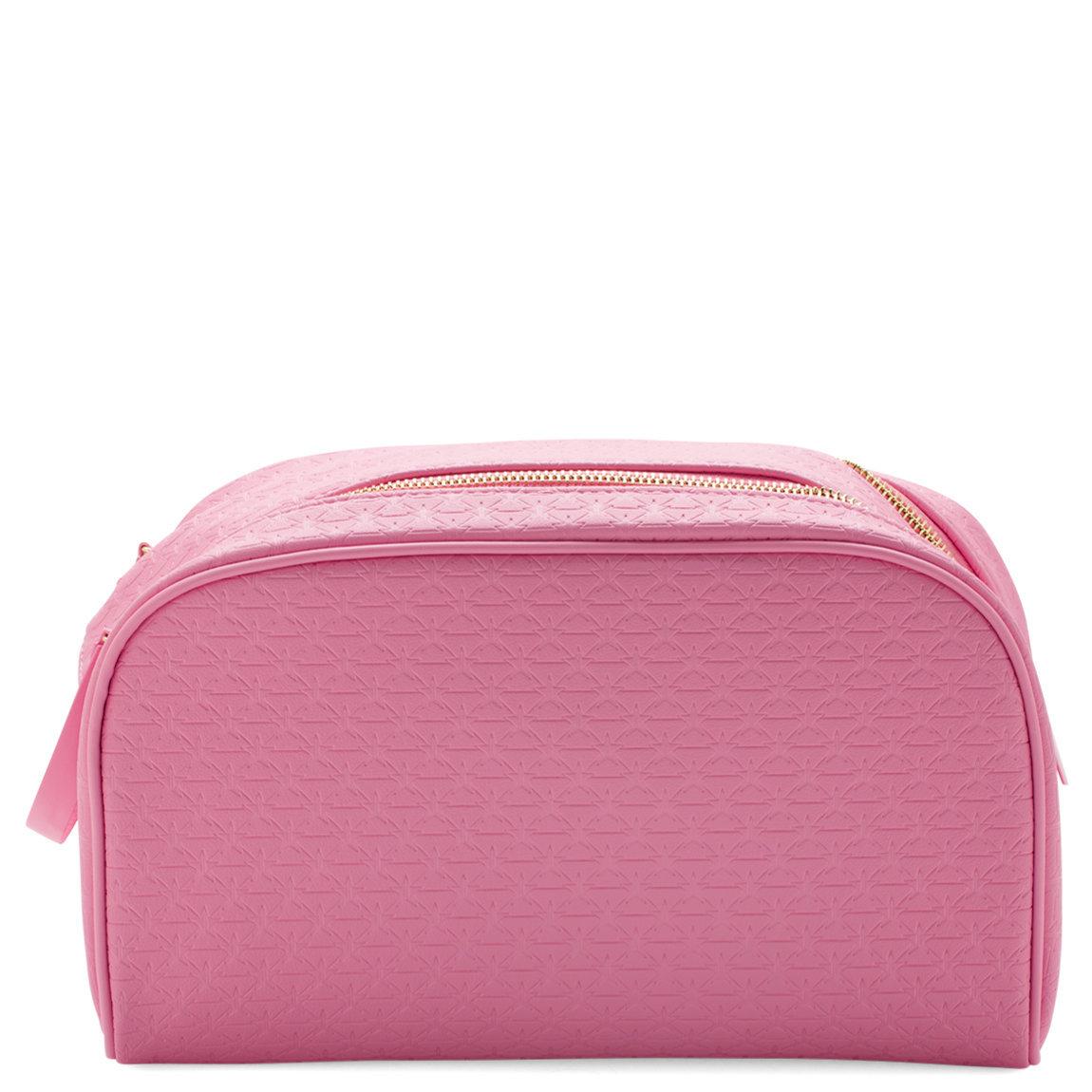 Jeffree Star Cosmetics Double Zip Makeup Bag Pink product swatch.