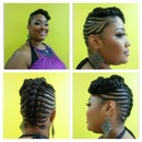 Natural Braided Updo