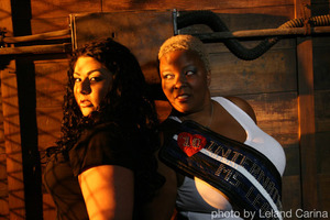 International Miss Leather 2010 and myself. I did her makeup for this amazing photo shoot!