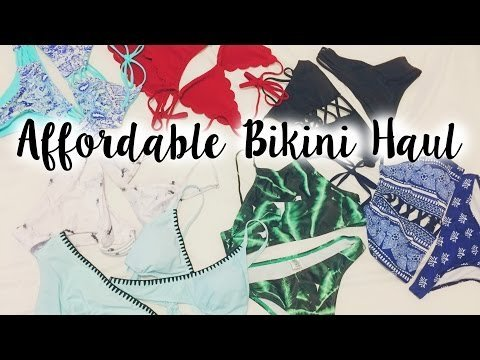 f095bd9d5b AFFORDABLE BIKINI TRY ON HAUL  Zaful Review